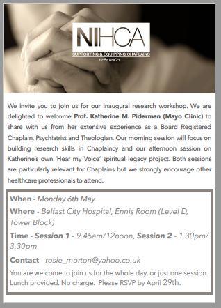 Northern Ireland Healthcare Chaplains Association – Inaugural